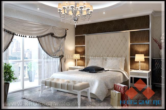 Phối cảnh Phòng ngủ chung cư Vinaconex 1