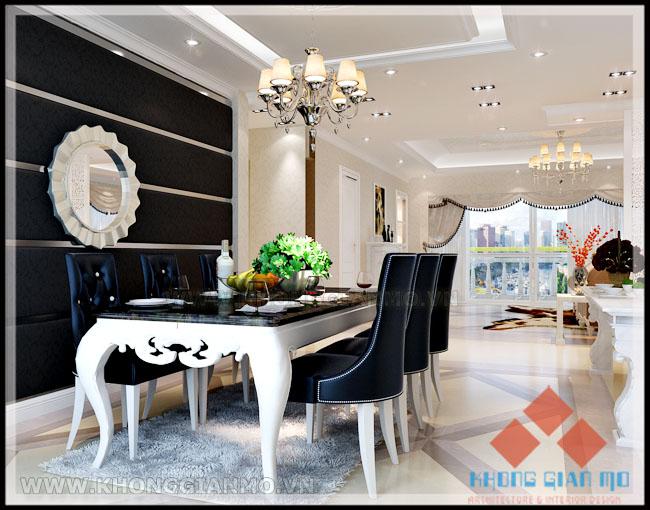 Thiết kế chung cư Vinaconex 1 Khuất Duy Tiến - Phối cảnh Phòng bếp chung cư Vinaconex 1