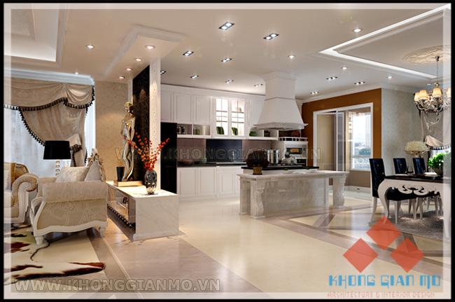 Nội thất Phòng khách chung cư Vinaconex 1-v2