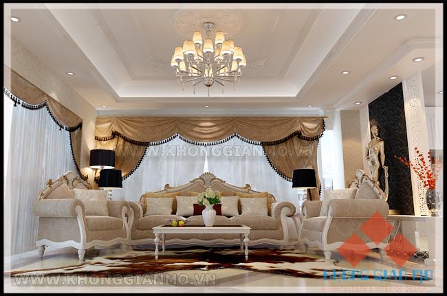 Nội thất Phòng khách chung cư Vinaconex 1