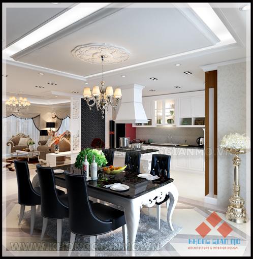Phối cảnh Phòng bếp chung cư Vinaconex 1